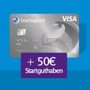 [Knaller] 50€ Startguthaben für die Barclaycard New Visa (dauerhaft beitragsfrei)