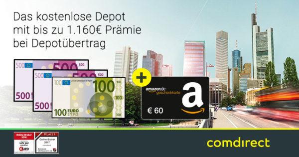 comdirect depot uebertrag bonus praemie