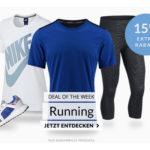 15% Gutschein auf alle Ballsportarten und Running-Artikel, z.B. Nike Shorts & Puma Shirts