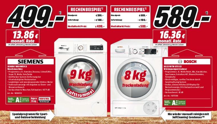 mm waschmaschine trockner