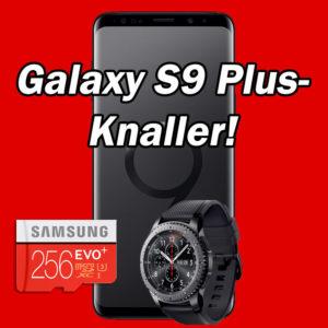 [Knaller] Samsung Galaxy S9 Plus + Galaxy Gear S3 + eff. gratis: Allnet-Flat mit 8GB (D2) oder 4GB (D1)