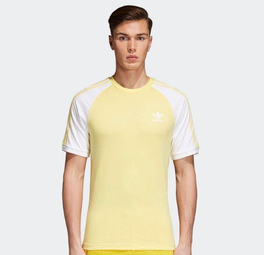 Adidas Shirt 3 Streifen gelb