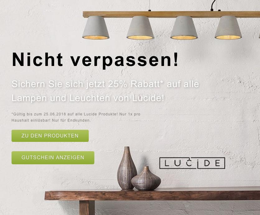 Lucide Lampen Mit 25 Rabatt Bei Click Licht De Mytopdeals