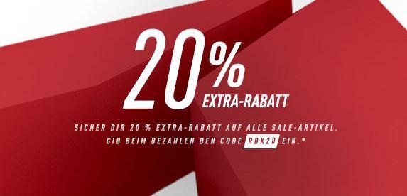 Reebok Outlet und 20 Prozent extra