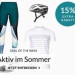 15% Rabatt auf Sommer Kleidung und Ausrüstung, z.B. Nike Trainingsshirt für 17€
