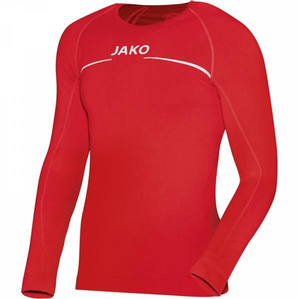 jako longsleeve comfort langarm fitness funktionsshirt a6452 01 rot 013197 2773812