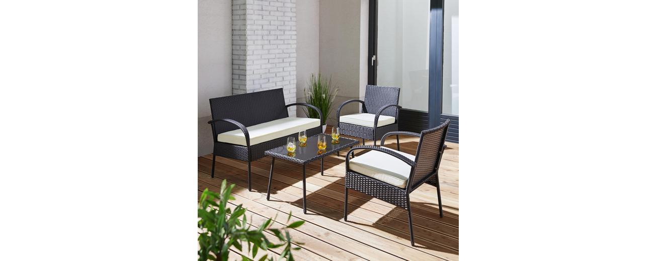 Tipp: 25% auf Gartenmöbel, z.B. Loungegarnitur inkl. Auflagen ...
