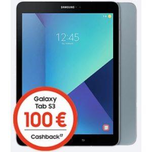 [Knaller] Eff. gratis: 10GB LTE (o2) + Samsung Galaxy Tab S3 LTE + 100€ Cashback