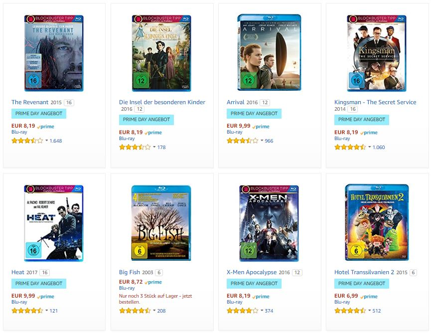 2018 07 17 09 34 06 Amazon.de  Prime Day  10 Blu rays fuer 50 EUR