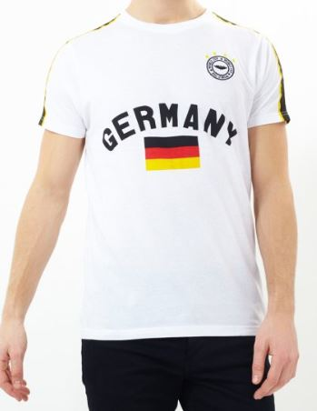 BRAVE SOUL Deutschland Herren World Cup Fan T Shirt