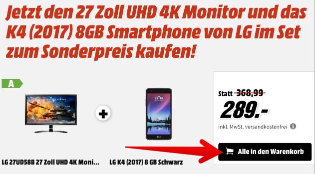 LG Monitor 27UD58B 27 Zoll UHD 4K MediaMarkt
