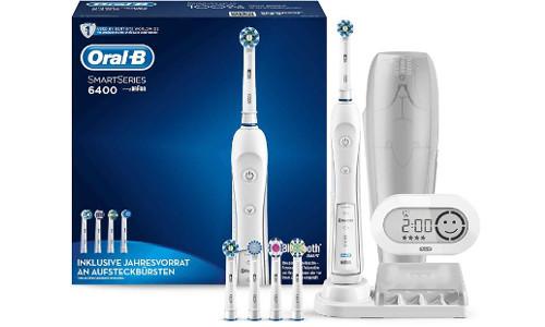 Oral-B 6400 🦷 Zahnbürste mit Bluetooth, SmartGuide & 5 Bürsten