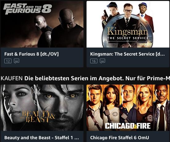 Prime Video Video on Demand Online Videothek Filme und Serien online ansehen oder als Einzelabruf online leihen oder kaufen