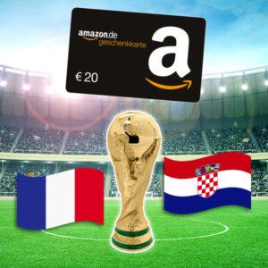 [Knaller] WM Finale (Frankreich vs. Kroatien): 20€ Amazon-Gutschein für eine 10€ Wette
