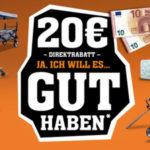 20€ für den Fuxtec Onlineshop (100€ MBW), z.B. Benzin Rasenmäher