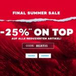Planet Sports: Großer Outlet + 25% Extra-Gutschein, z.B. T-Shirts für 7,50€