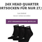 24er Pack Head Unisex Quarter Socken