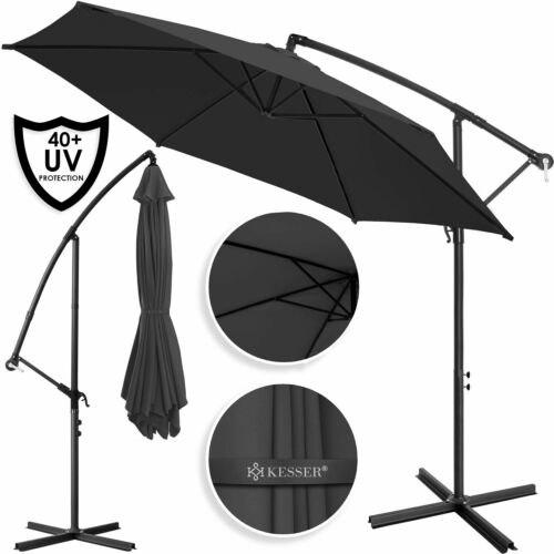 KESSER Sonnenschirm Ampelschirm 300cm 350cm Marktschirm Gartenschirm ALU NEU