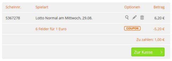 Lottohelden 6 aus 49 tippen nur 1 Euro