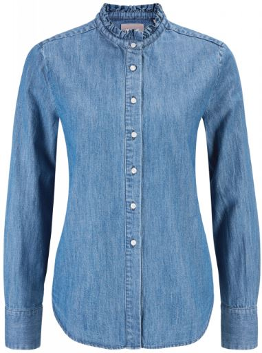 Mustang Jeansbluse mit Ruesche