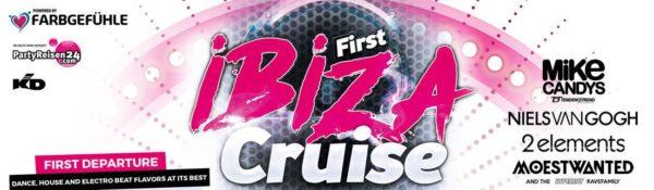 Partyboot auf dem Koelner Rhein First Ibiza Cruise 27.10.2018