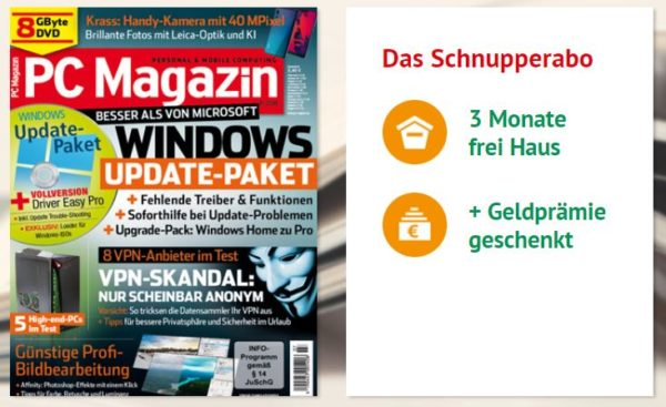 Schnupperabo 3 Ausgaben PC Magazin Classic DVD XXL 19 65 Euro