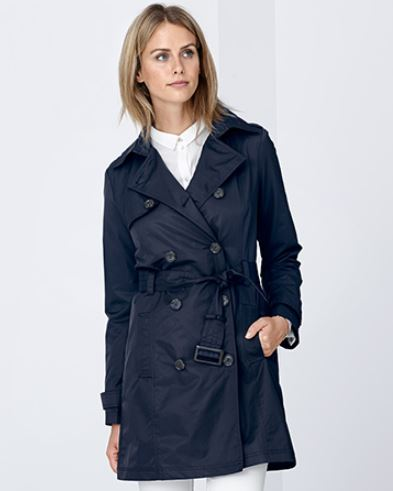 Trenchcoat Damen blau
