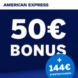 American Express Gold Card 💳 144€ Startguthaben + 50€ Bonus