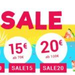 Im Sommer Sale bis zu 20€ Rabatt bei Medimops
