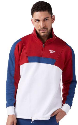2018 09 18 09 29 09 Reebok Quarter Zip Fleece Sweatshirt