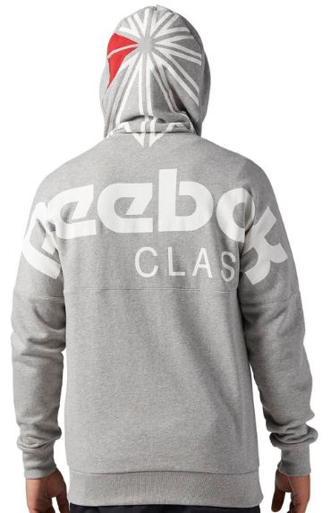 2018 09 18 09 31 18 Reebok Classics French Terry Full Zip Hoodie Grau   Reebok Deutschland