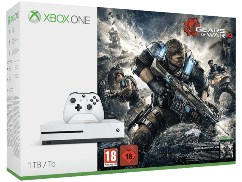 MICROSOFT Xbox One S 1TB Konsole Gears of War 4 Bundle All In One Entertainment System in Weiss kaufen SATURN