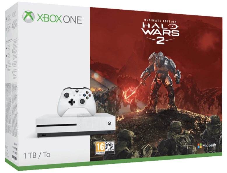 MICROSOFT Xbox One S 1TB Konsole Halo Wars 2 Bundle All In One Entertainment System in Weiss kaufen SATURN