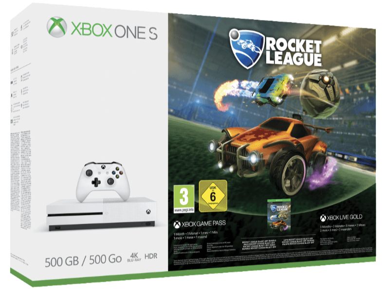 MICROSOFT Xbox One S 500GB Konsole Rocket League Bundle All In One Entertainment System in Weiss kaufen SATURN