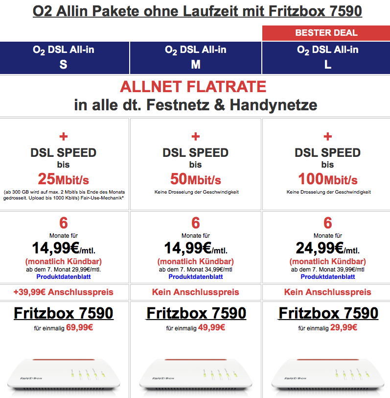 Fritzbox 7590 Für Eff Nur 80 Dank O2 Dsl Vertrag Ohne Laufzeit