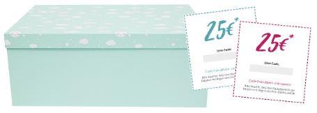 Windeln de   Storchenbox Babybox mit 14 Produkten und Gutscheinen