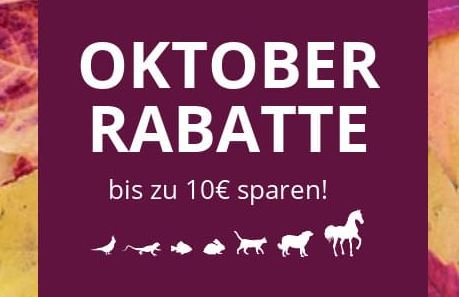 Zooroyal Oktober Rabatte