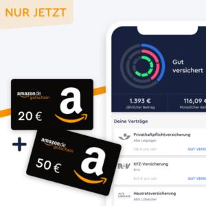 CLARK: 50€ Gutschein für 2 Versicherungen + 20€ für Rentencheck