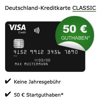 Vorbei Deutschland Visa Karte Mit 50 Startguthaben
