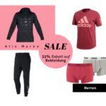 35% Rabatt auf Bekleidung bei mysportswear