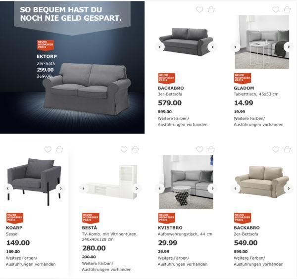50 ikea gutschein beim kauf eines sofa pro 400 einkaufswert mytopdeals. Black Bedroom Furniture Sets. Home Design Ideas