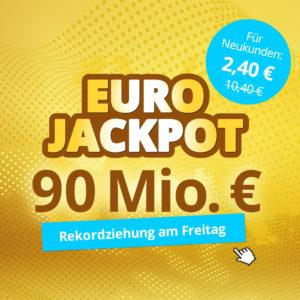 💰 5 Felder für den Eurojackpot für nur 2,40€ (Lottohelden Neukunden)