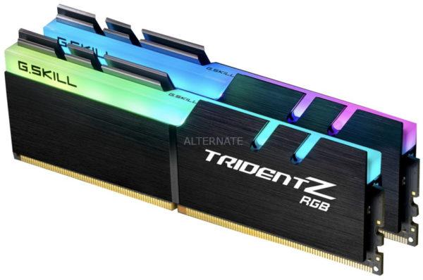 G.Skill DIMM 16 GB DDR4 3200 Kit Arbeitsspeicher F4 3200C16D 16GTZR Trident Z RGB