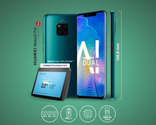 D1: Telekom Magenta Mobil M mit bis zu 16GB LTE + Huawei Mate 20 Pro + Echo Show - MyTopDeals