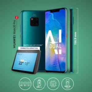 💥 o2: Allnet-Flat + 2GB LTE + Huawei Mate 20 Pro + Echo Show (eff. 267€ Ersparnis)