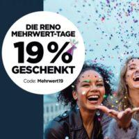 Reno online 19 Prozent auf alles ab 2 Paar Schuhen
