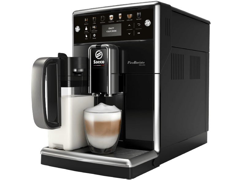 SAECO PicoBaristo Deluxe SM5570 10 Kaffeevollautomat 1.7 Liter Wassertank 15 bar Klavierlack Schwarz