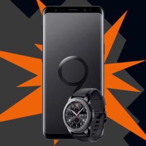 [Knaller] D1 Allnet-Flat mit 1GB + Samsung Galaxy S9 + Galaxy Gear S3 für 20€ mtl. 💥