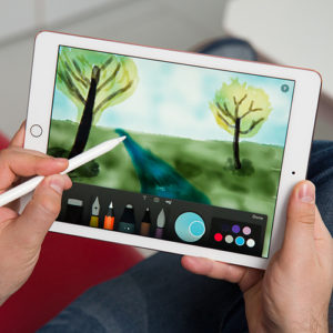 D1: Internet-Flat mit 10GB LTE + Apple iPad 2018 (128GB, Wifi + LTE) + Apple Pencil