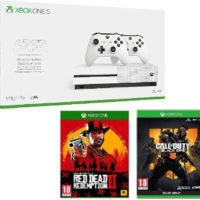 Xbox One S Konsole 1TB 2. Controller Red Dead Red. 2 CoD Black Ops 4